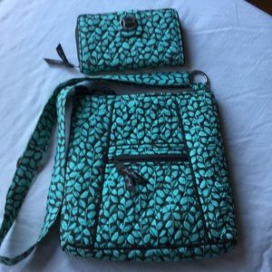 Vera Bradley Crossbody with matching wallet